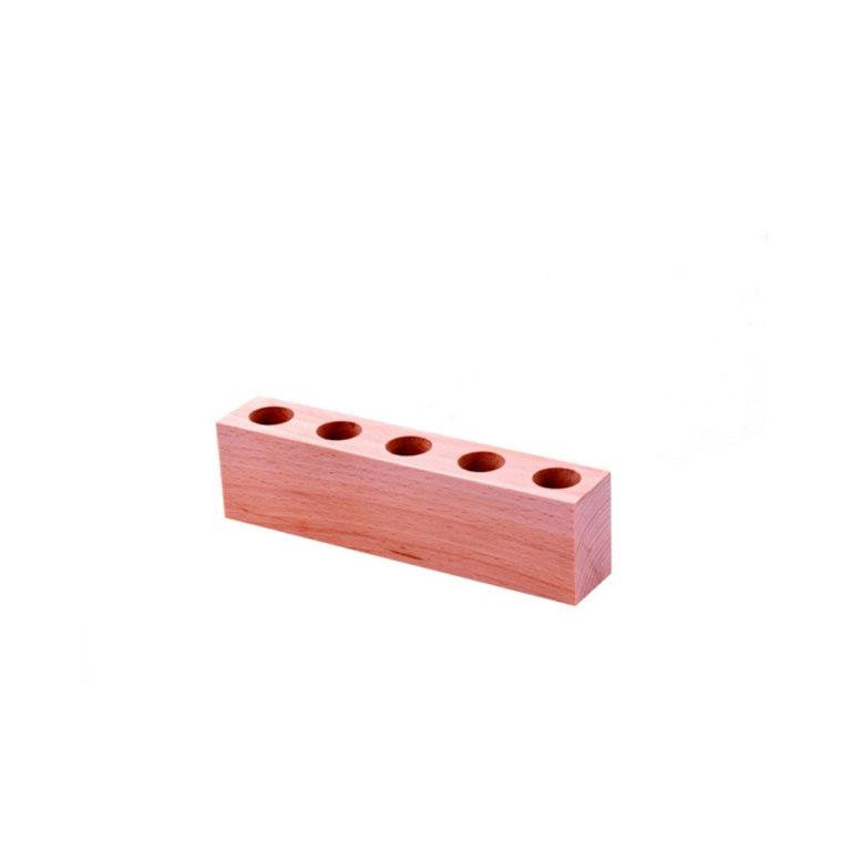 Support bois 5 mini tubes - SM05